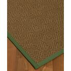 Magnuson Border Hand-Woven Brown/Green Area Rug Rug Pad Included: No, Rug Size: Runner 2'6