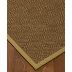 Magnuson Border Hand-Woven Brown/Khaki Area Rug Rug Size: Rectangle 5' x 8', Rug Pad Included: Yes