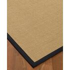 Atwell Border Hand-Woven Beige/Midnight Blue Area Rug Rug Size: Rectangle 8' x 10', Rug Pad Included: Yes