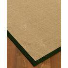 Atwell Border Hand-Woven Beige/Moss Area Rug Rug Size: Rectangle 12' x 15', Rug Pad Included: Yes