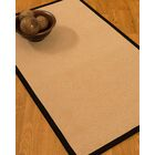 Vanmeter Border Hand-Woven Wool Beige/Black Area Rug Rug Size: Rectangle 6' x 9', Rug Pad Included: Yes