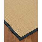 Vannatta Border Hand-Woven Wool Beige/Marine Area Rug Rug Size: Rectangle 5' x 8', Rug Pad Included: Yes