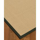 Vannatta Border Hand-Woven Wool Blend Beige/Black Area Rug Rug Size: Rectangle 6' x 9', Rug Pad Included: Yes