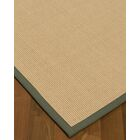 Vannatta Border Hand-Woven Wool Beige/Stone Area Rug Rug Size: Rectangle 6' x 9', Rug Pad Included: Yes