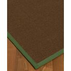 Heider Border Hand-Woven Brown/Green Area Rug Rug Size: Rectangle 9' x 12', Rug Pad Included: Yes
