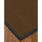 Heider Border Hand-Woven Brown/Marine Area Rug Rug Size: Rectangle 6' x 9', Rug Pad Included: Yes