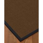 Heider Border Hand-Woven Brown/Midnight Blue Area Rug Rug Pad Included: No, Rug Size: Runner 2'6