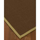 Heider Border Hand-Woven Brown/Natural Area Rug Rug Size: Rectangle 9' x 12', Rug Pad Included: Yes