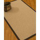 Chavira Border Hand-Woven Wool Beige/Fudge Area Rug Rug Pad Included: No, Rug Size: Runner 2'6