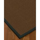 Heider Border Hand-Woven Brown/Onyx Area Rug Rug Size: Rectangle 5' x 8', Rug Pad Included: Yes