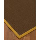 Heider Border Hand-Woven Brown/Tan Area Rug Rug Size: Rectangle 9' x 12', Rug Pad Included: Yes