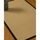 Jacobs Border Hand-Woven Beige/Black Area Rug with Free Rug Pad