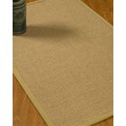 Jacobs Border Hand-Woven Beige/Sand Area Rug Rug Size: Rectangle 5' x 8', Rug Pad Included: Yes