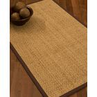 Caster Border Hand-Woven Beige/Brown Area Rug Rug Size: Rectangle 8' x 10', Rug Pad Included: Yes