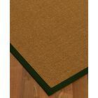 Antonina Border Hand-Woven Brown/Moss Area Rug Rug Pad Included: No, Rug Size: Rectangle 3' x 5'