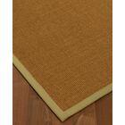 Antonina Border Hand-Woven Brown/Beige Area Rug Rug Pad Included: No, Rug Size: Runner 2'6