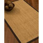 Caster Border Hand-Woven Beige/Fudge Area Rug Rug Size: Rectangle 9' x 12', Rug Pad Included: Yes