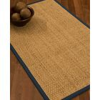 Caster Border Hand-Woven Beige/Marine Area Rug Rug Pad Included: No, Rug Size: Runner 2'6