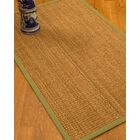 Kimberwood Border Hand-Woven Brown/Green Area Rug Rug Size: Rectangle 6' x 9', Rug Pad Included: Yes
