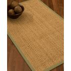 Caster Border Hand-Woven Beige/Natural Area Rug Rug Size: Rectangle 12' x 15', Rug Pad Included: Yes