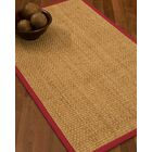 Caster Border Hand-Woven Beige/Red Area Rug Rug Size: Rectangle 6' x 9', Rug Pad Included: Yes