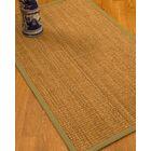 Kimberwood Border Hand-Woven Brown/Natural Area Rug Rug Size: Rectangle 12' x 15', Rug Pad Included: Yes