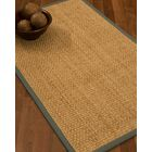 Caster Border Hand-Woven Beige/Stone Area Rug Rug Size: Rectangle 4' x 6', Rug Pad Included: Yes