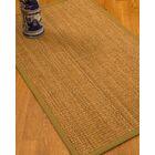 Kimberwood Border Hand-Woven Brown/Sage Area Rug Rug Size: Rectangle 5' x 8', Rug Pad Included: Yes