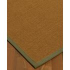 Antonina Border Hand-Woven Brown/Fossil Area Rug Rug Pad Included: No, Rug Size: Runner 2'6