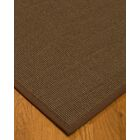 Kerner Border Hand-Woven Brown Area Rug Rug Size: Rectangle 4' x 6', Rug Pad Included: Yes
