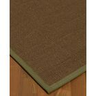 Kerner Border Hand-Woven Brown/Green Area Rug Rug Size: Rectangle 9' x 12', Rug Pad Included: Yes