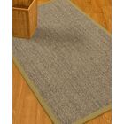 Mahan Border Hand-Woven Gray/Natural Area Rug Rug Size: Rectangle 8' x 10', Rug Pad Included: Yes