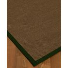 Kerner Border Hand-Woven Brown/Moss Area Rug Rug Pad Included: No, Rug Size: Rectangle 3' x 5'