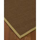 Kerner Border Hand-Woven Brown/Olive Area Rug Rug Size: Rectangle 5' x 8', Rug Pad Included: Yes