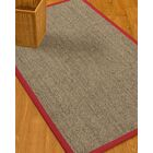 Mahan Border Hand-Woven Gray/Red Area Rug Rug Size: Rectangle 4' x 6', Rug Pad Included: Yes