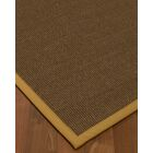 Kerner Border Hand-Woven Brown/Sage Area Rug Rug Size: Rectangle 6' x 9', Rug Pad Included: Yes