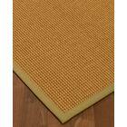 Aula Border Hand-Woven Brown/Khaki Area Rug Rug Pad Included: No, Rug Size: Runner 2'6