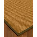 Aula Border Hand-Woven Brown Area Rug Rug Pad Included: No, Rug Size: Rectangle 3' x 5'