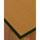 Aula Border Hand-Woven Brown/Moss Area Rug Rug Pad Included: No, Rug Size: Runner 2'6
