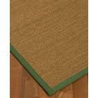 Kennon Border Hand-Woven Brown/Green Area Rug Rug Size: Rectangle 8' x 10', Rug Pad Included: Yes