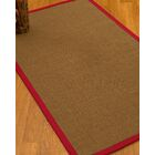 Huntwood Border Hand-Woven Brown/Red Area Rug Rug Size: Rectangle 9' x 12', Rug Pad Included: Yes