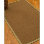 Huntwood Border Hand-Woven Brown/Sand Area Rug Rug Size: Rectangle 12' x 15', Rug Pad Included: Yes