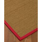 Chavis Border Hand-Woven Beige/Red Area Rug Rug Size: Rectangle 5' x 8', Rug Pad Included: Yes
