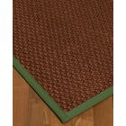 Kerrick Border Hand-Woven Brown/Green Area Rug Rug Size: Rectangle 4' x 6', Rug Pad Included: Yes