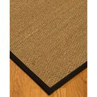 Anya Border Hand-Woven Beige/Black Area Rug Rug Size: Rectangle 12' x 15', Rug Pad Included: Yes