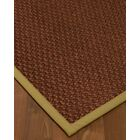 Kerrick Border Hand-Woven Brown/Khaki Area Rug Rug Pad Included: No, Rug Size: Runner 2'6