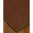 Kerrick Border Hand-Woven Brown Area Rug Rug Size: Rectangle 5' x 8', Rug Pad Included: Yes