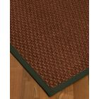 Kerrick Border Hand-Woven Brown/Green Area Rug Rug Size: Rectangle 12' x 15', Rug Pad Included: Yes