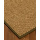 Anya Border Hand-Woven Beige/Olive Area Rug Rug Pad Included: No, Rug Size: Runner 2'6