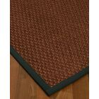 Kerrick Border Hand-Woven Brown/Onyx Area Rug Rug Size: Rectangle 9' x 12', Rug Pad Included: Yes
